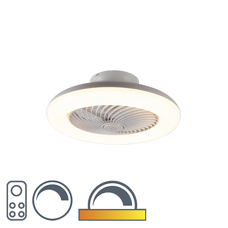 Design plafondventilator wit incl. LED dimbaar - Clima