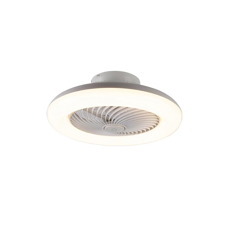Plafondventilator wit incl. LED dimbaar - Clima