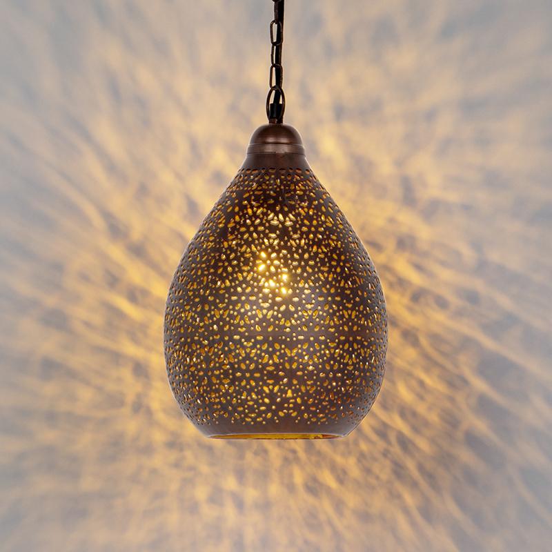 Oosterse hanglamp koper - Maruf 5