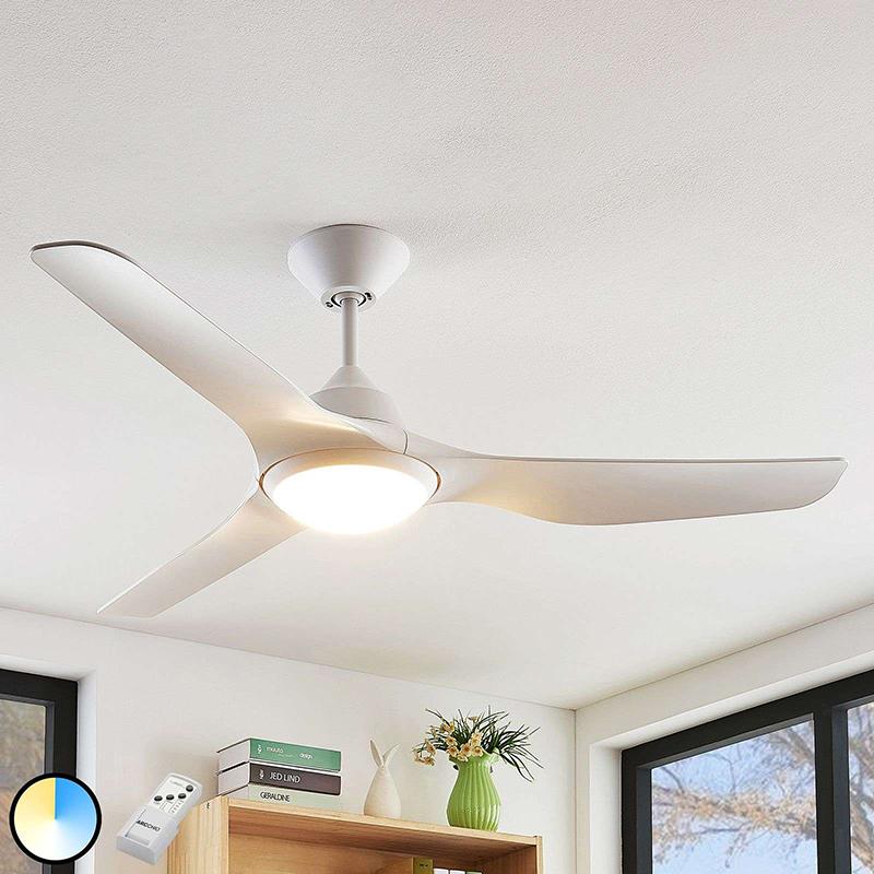 Plafondventilator wit incl. LED en afstandsbediening - Pira