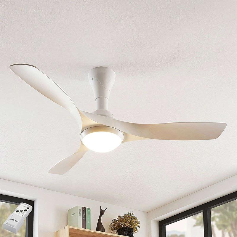 Plafondventilator wit incl. LED en afstandsbediening - Borga