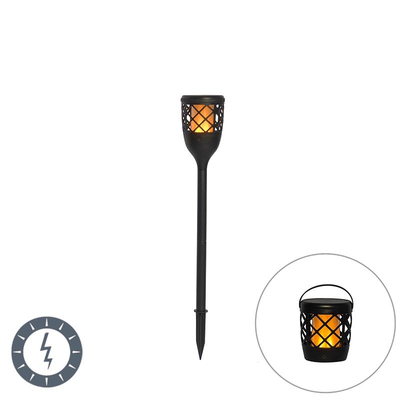 Prikspot zwart met flame effect incl. LED 2W - Toci
