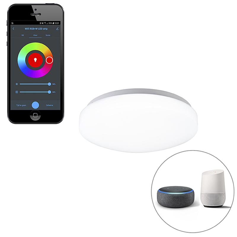 Moderne smart plafonnière wit incl. LED met app - Marti