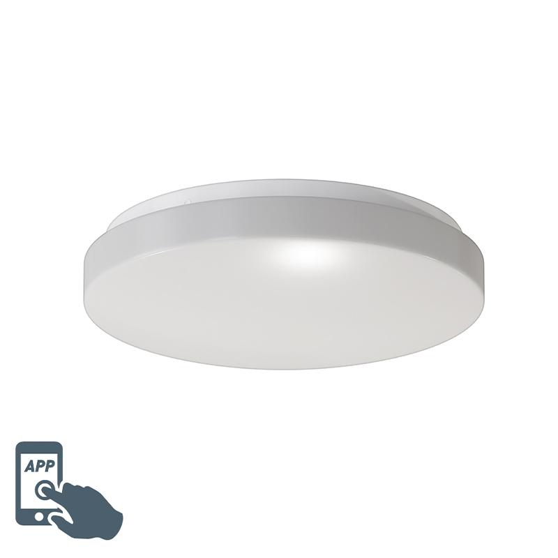 Moderne smart plafonni�re wit incl. LED - Marti