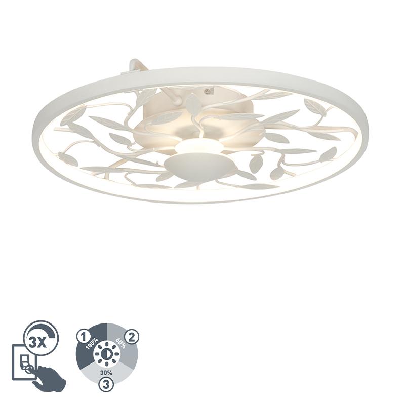 Plafon art deco biały 3-stopniowe ściemnianie LED - Bota