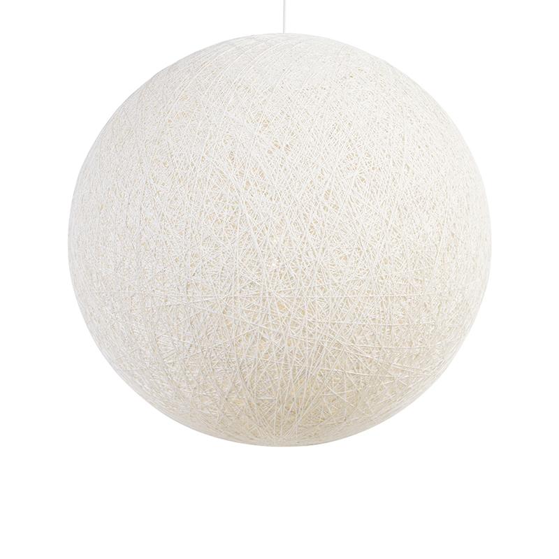 Skandynawska lampa wisząca biała 80 cm - Corda