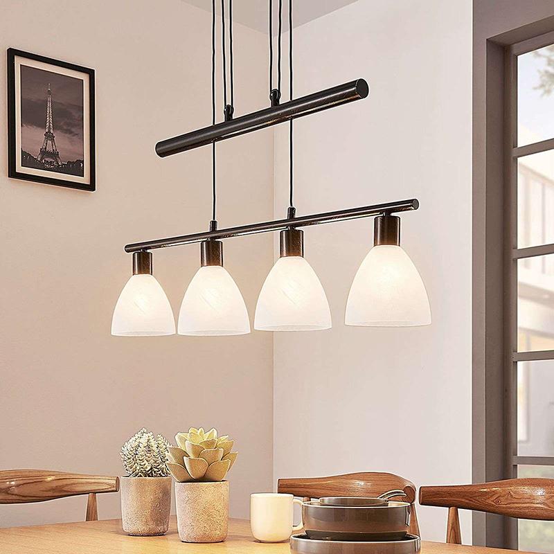 Moderne hanglamp bruin - Simeon