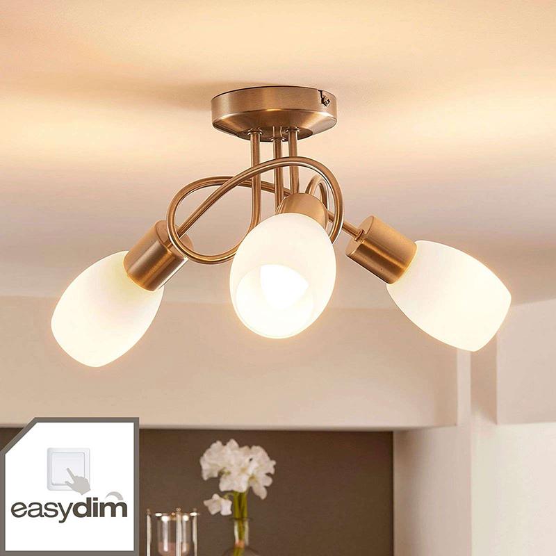 Plafondlamp chroom incl. E14 en easydim 3-lichts - Arda