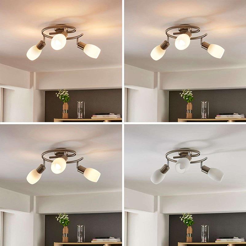 Plafondlamp chroom incl. E14 en easydim 3-lichts verstelbaar - Arda
