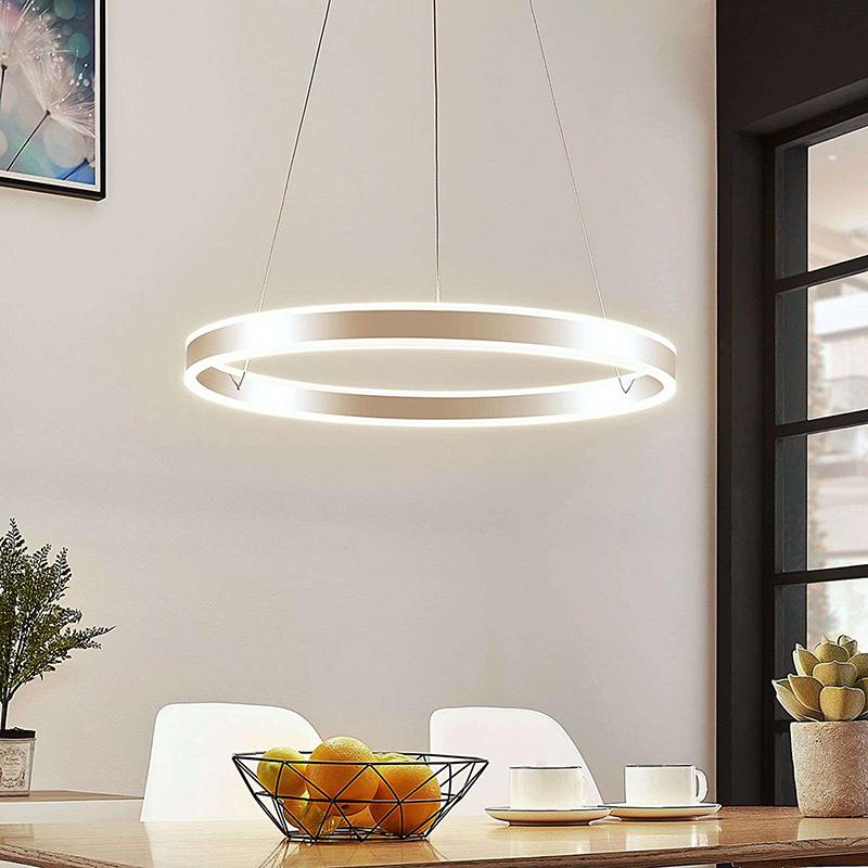 Moderne hanglamp chroom 60 cm incl. LED 3-staps dimbaar - Lyani