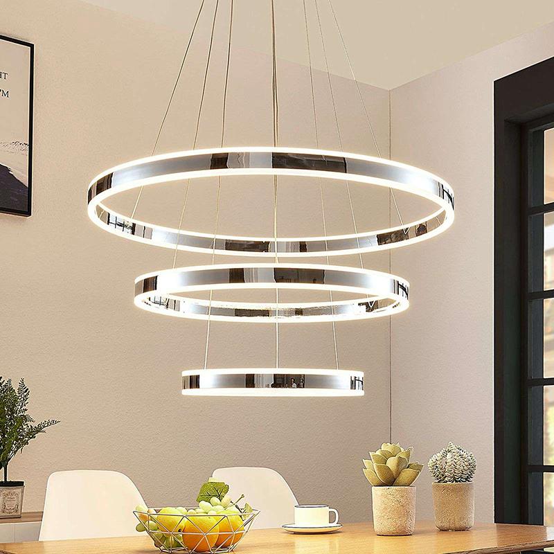 Moderne drievoudige hanglamp chroom incl. LED 3-staps dimbaar - Lyani
