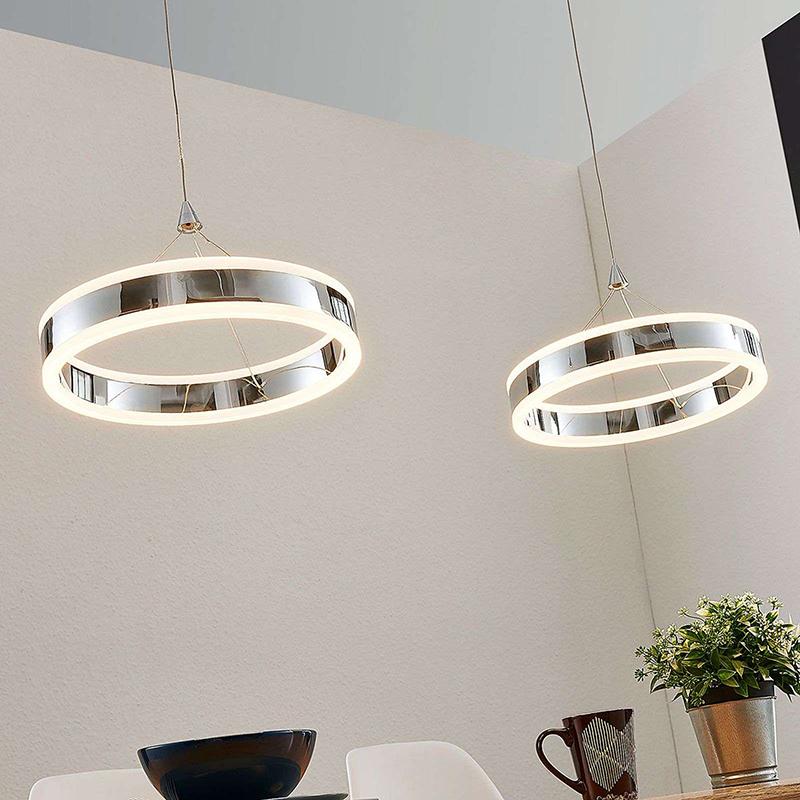 Moderne hanglamp chroom 2-lichts incl. LED 3-staps dimbaar - Lyani