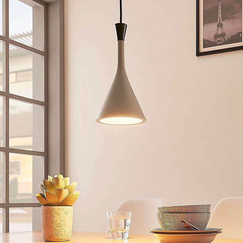 Industriele hanglamp grijs - Flynn