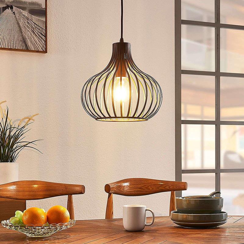 Moderne hanglamp bruin 28 cm - Frances