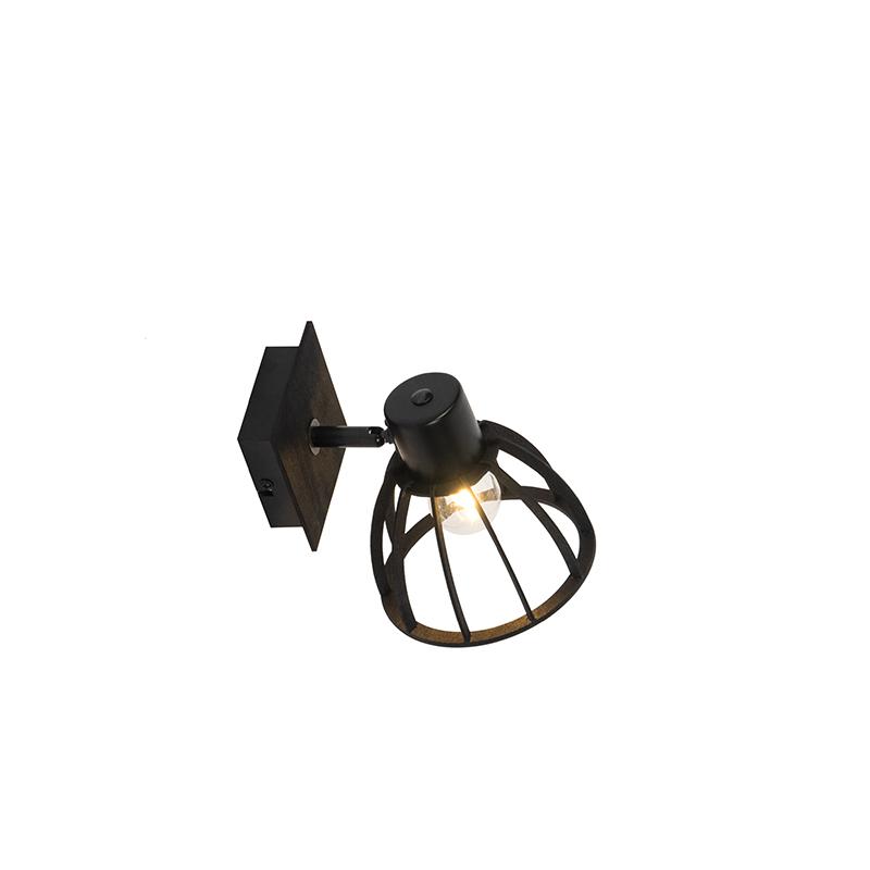 Industri�le wandlamp zwart - Fotu
