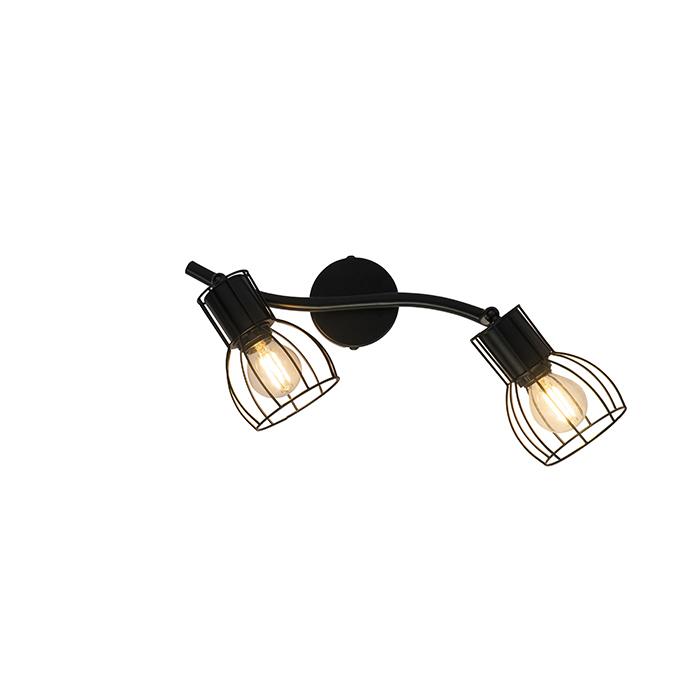 Nowoczesna lampa sufitowa czarna 2-punktowa regulowana - Botu