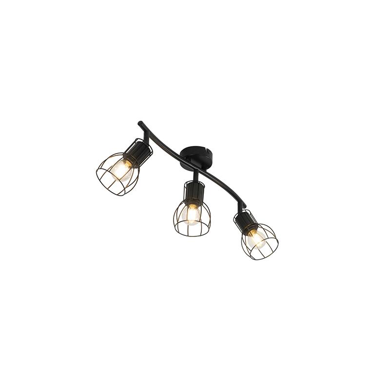 Moderne plafondlamp zwart 63 cm 3-lichts verstelbaar - Botu
