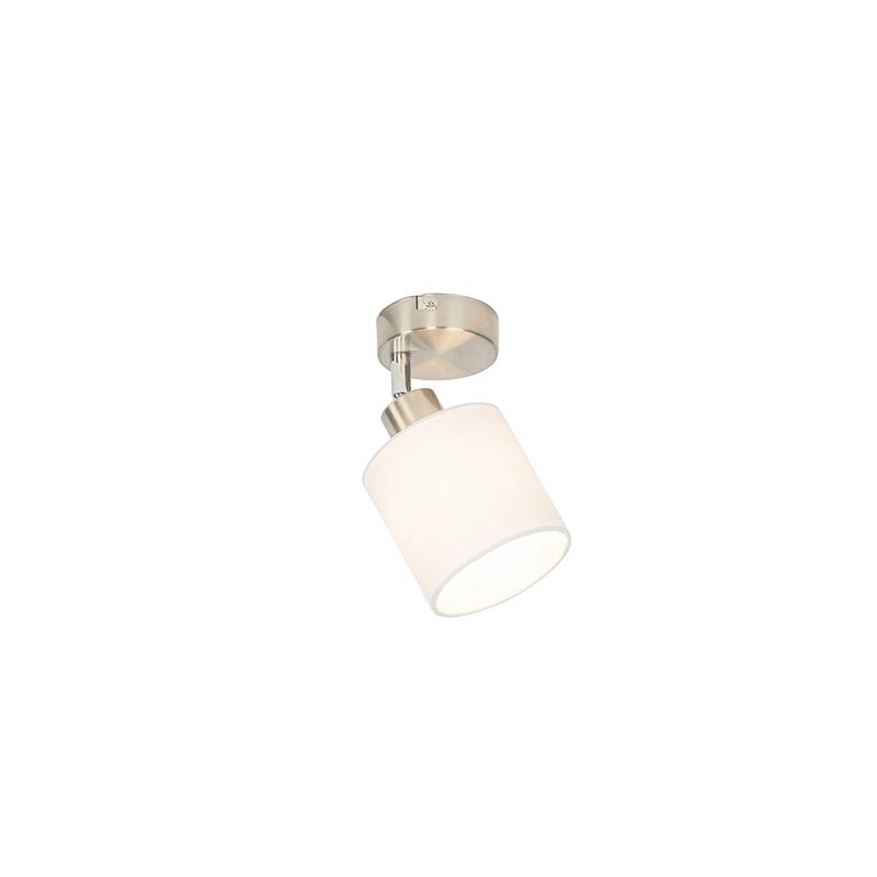 Reflektor ścienny i sufitowy stalowy z regulowanym białym kloszem - Hetta