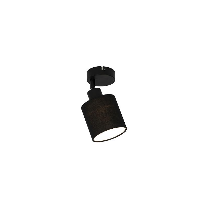 Reflektor ścienny i sufitowy czarny z regulowanym kloszem - Hetta