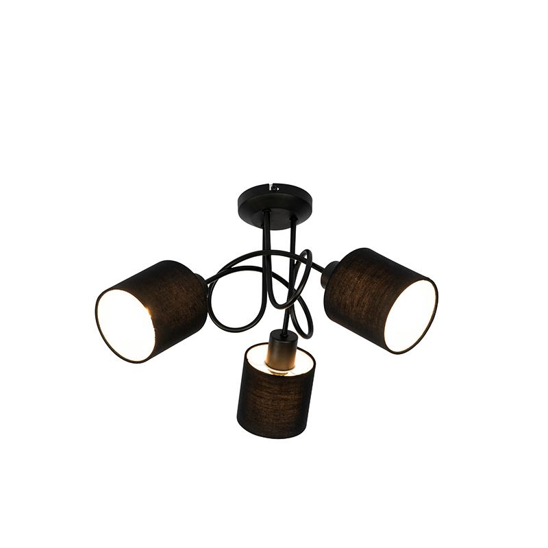 Plafondspot zwart 3-lichts - Hetta