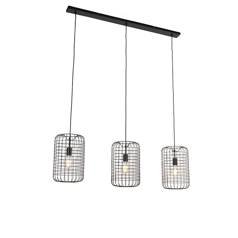 Przemysłowa lampa wisząca czarna 130 cm - Bliss Vefa