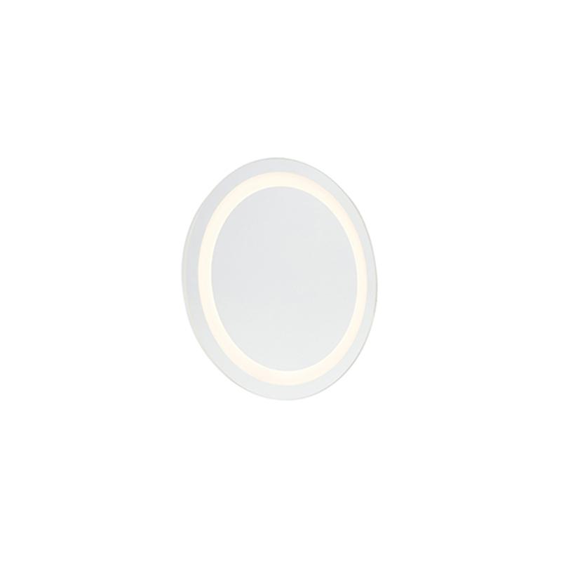Moderní kulaté koupelnové zrcadlo vč. LED IP44 - Miral