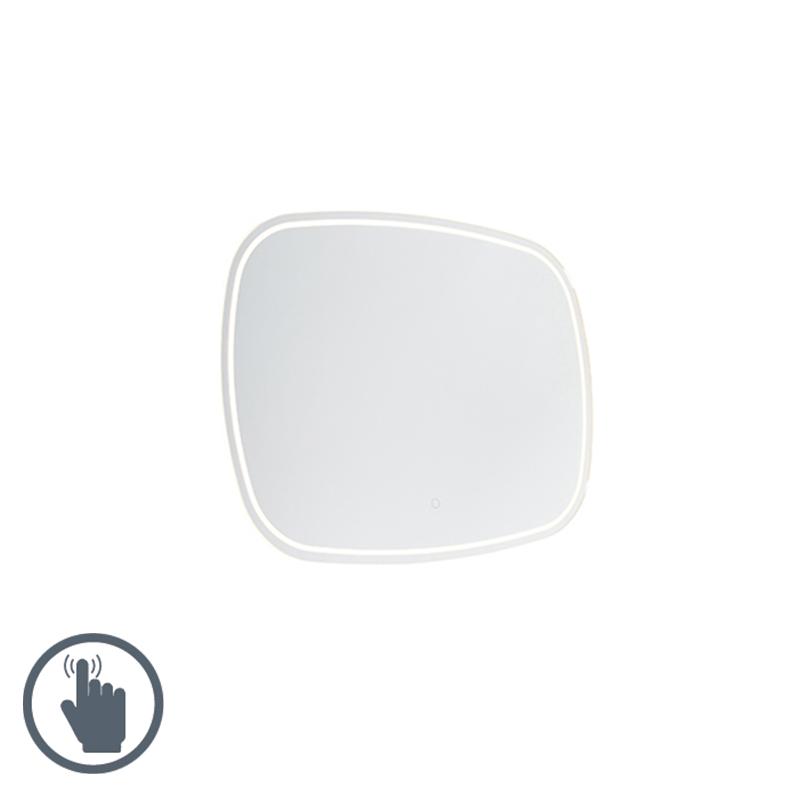 Moderne badkamerspiegel 60x80 cm incl. LED met touch dimmer IP44 - Miral