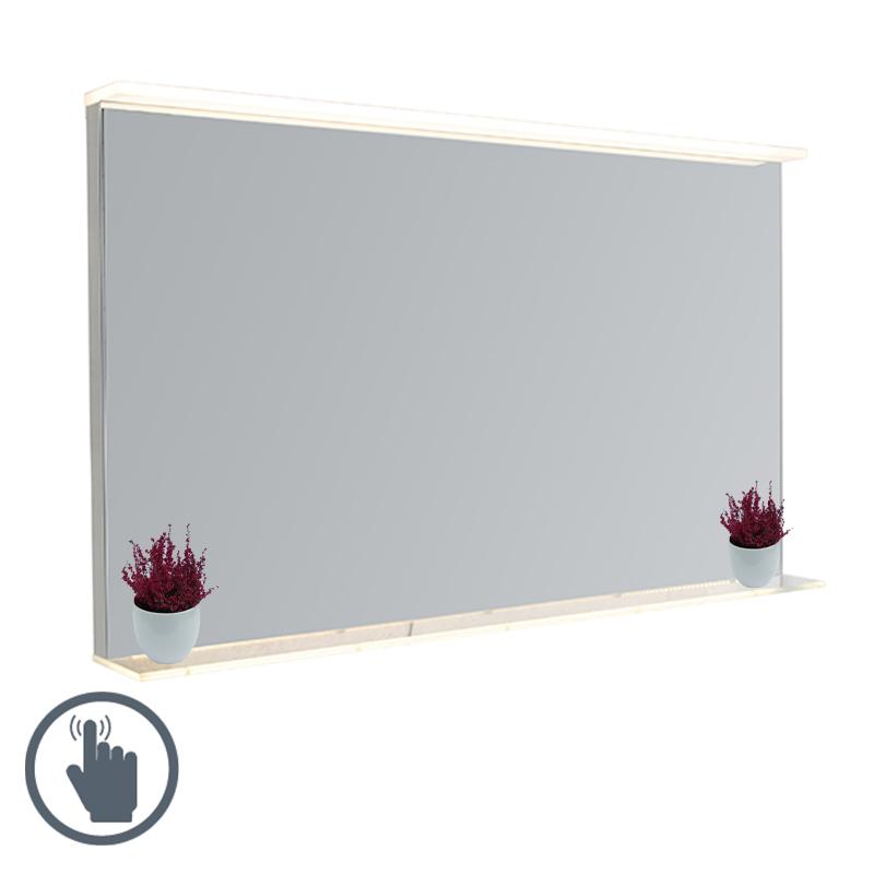 Lustro łazienkowe z LED ze ściemniaczem dotykowym i półką - Miral