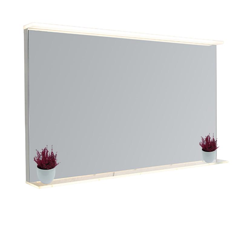 Badkamerspiegel 60x100 cm incl. LED met touch dimmer en plateau - Miral