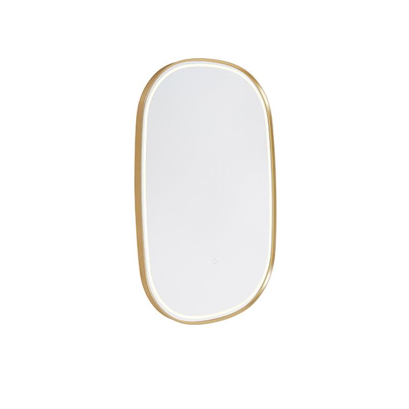 Badkamerspiegel goud incl. LED met touch dimmer ovaal - Miral