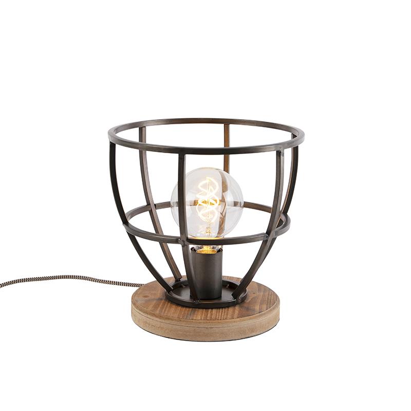 Industrialna lampa stołowa czarna - Arthur