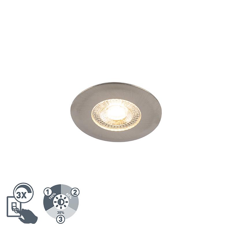 Oprawa do wbudowania srebrna 3-stopniowe ściemnianie - Ulo