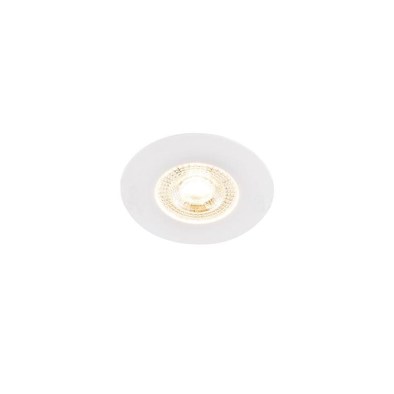 Set van 5 inbouwspots wit 3 staps dimbaar - Ulo