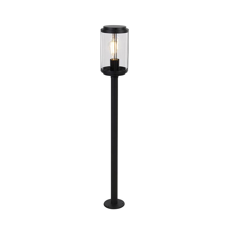 Designerska stojąca lampa zewnętrzna czarna 100 cm IP44 - Schiedam