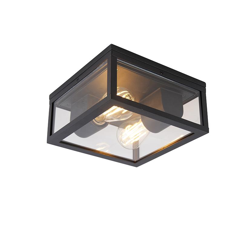 Industri�le plafondlamp zwart IP44 - Charlois