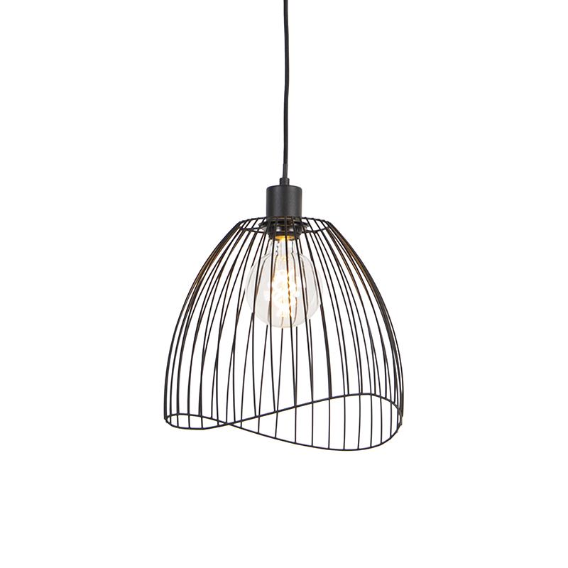 Designerska lampa wisząca czarna 29 cm - Pua