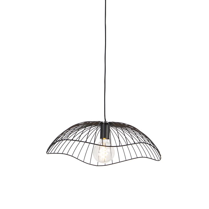 Designerska lampa wisząca czarna 50 cm - Pua