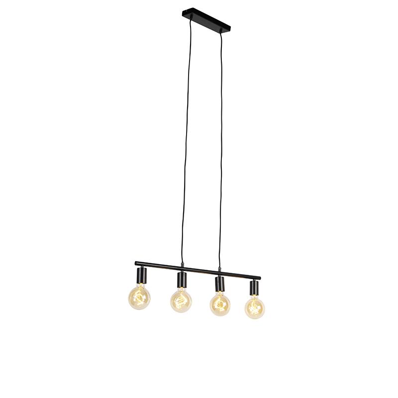 Moderne hanglamp zwart 4-lichts - Sydney