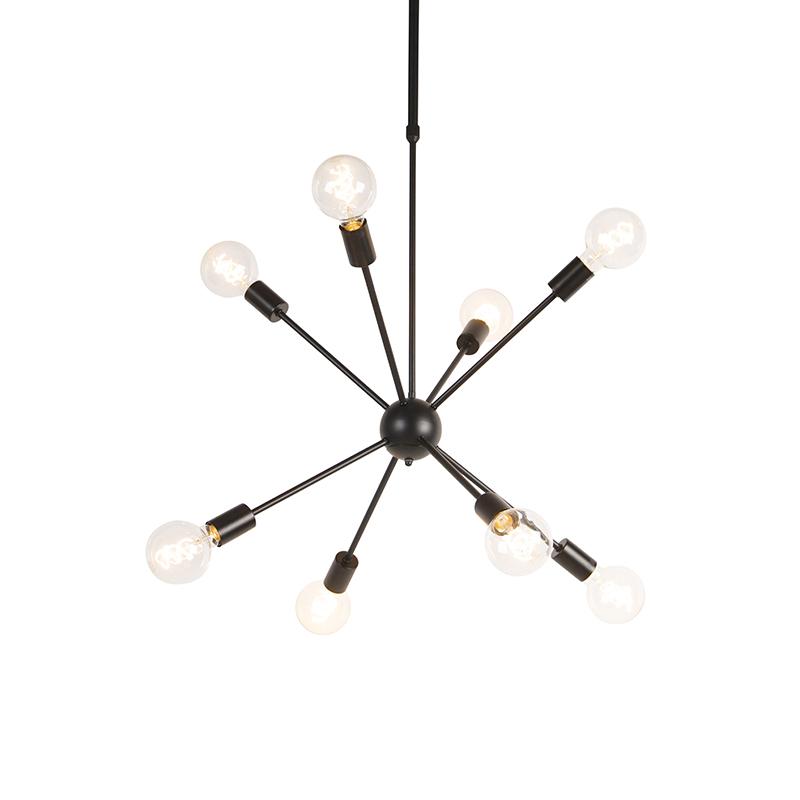 Design hanglamp zwart 8-lichts - Sputnik