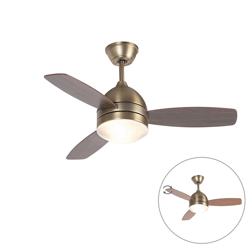 Plafondventilator brons met afstandsbediening - Rotar