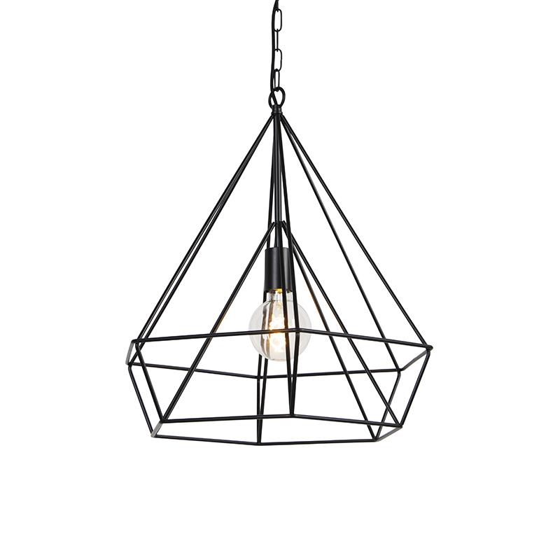 Scandinavische hanglamp zwart - Karkass