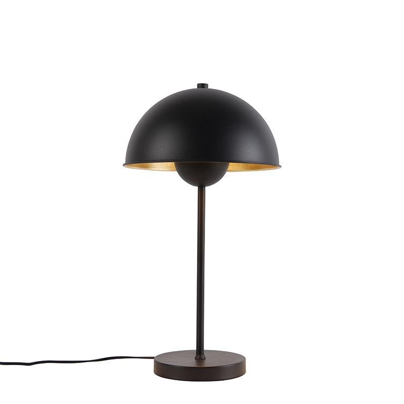Lampa stołowa retro czarna ze złotem - Magnax