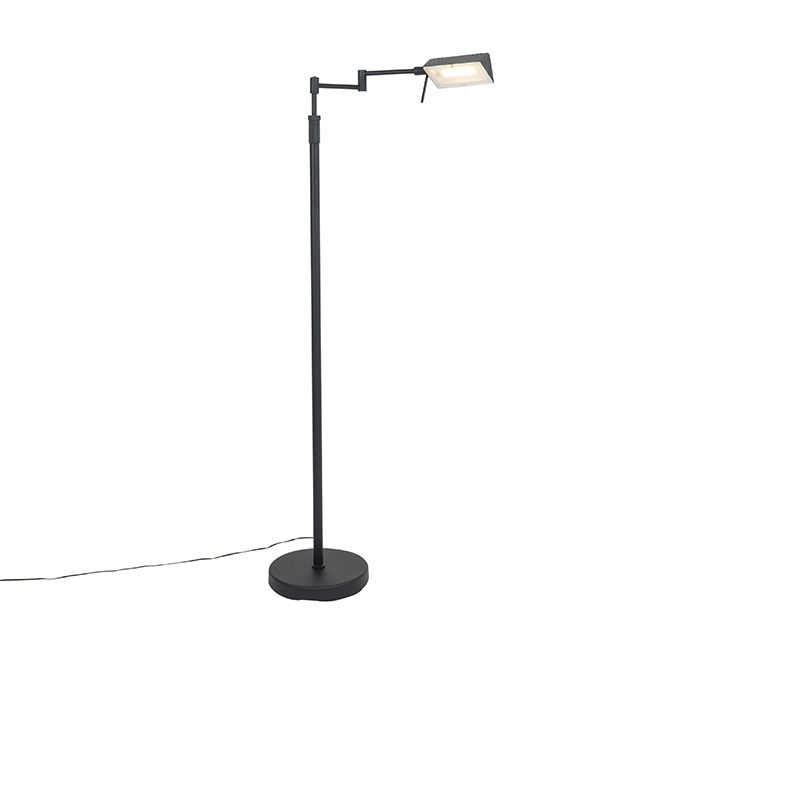 Design vloerlamp zwart incl. LED met touch dimmer - Notia