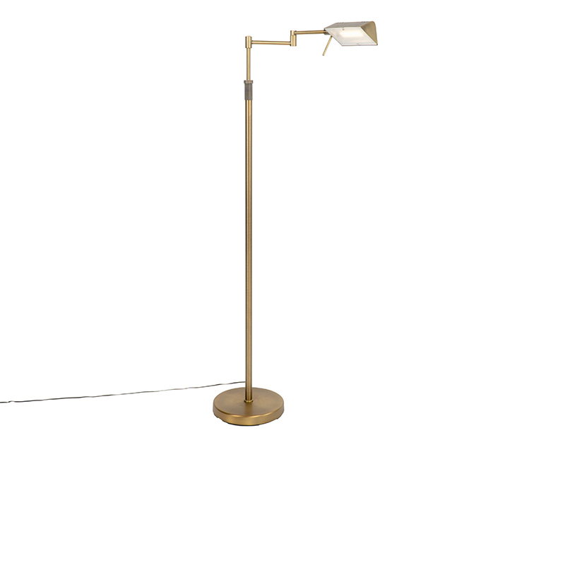Design vloerlamp brons incl. LED met touch dimmer - Notia
