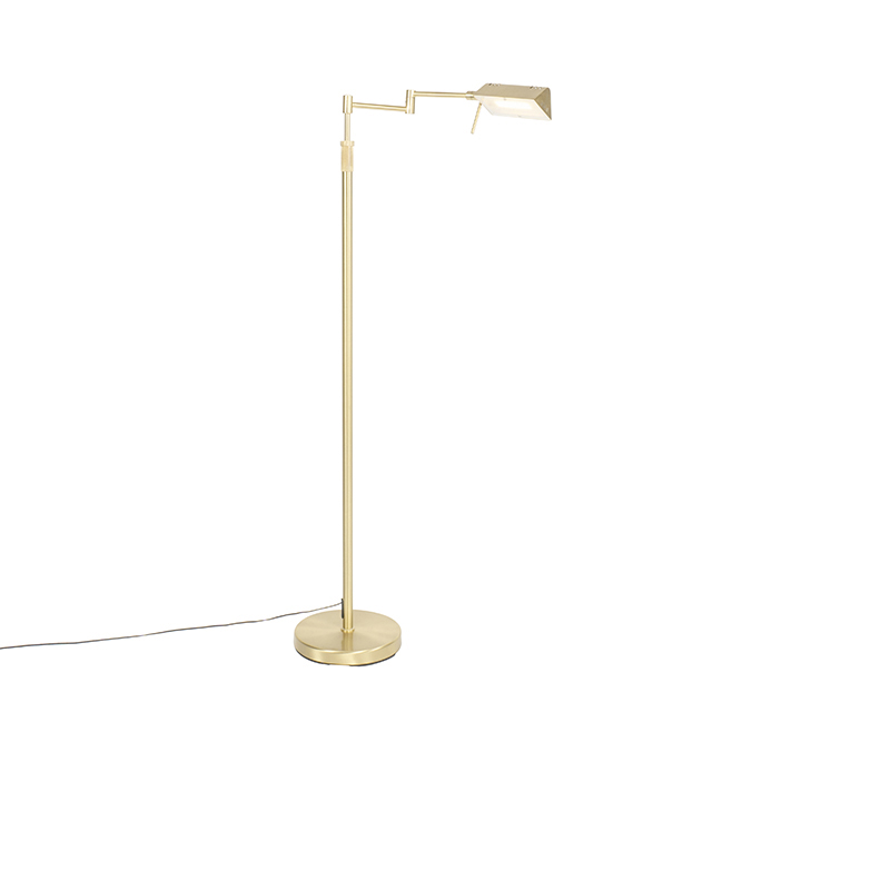 Vloerlamp messing incl. LED met touch dimmer - Notia