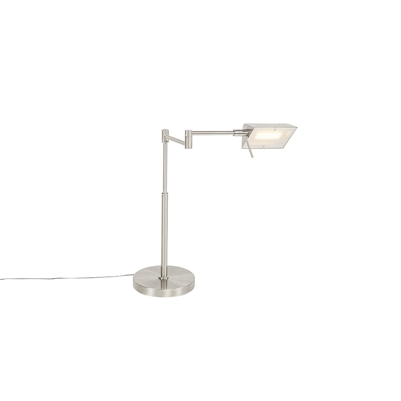 Design tafellamp staal incl. LED met touch dimmer - Notia