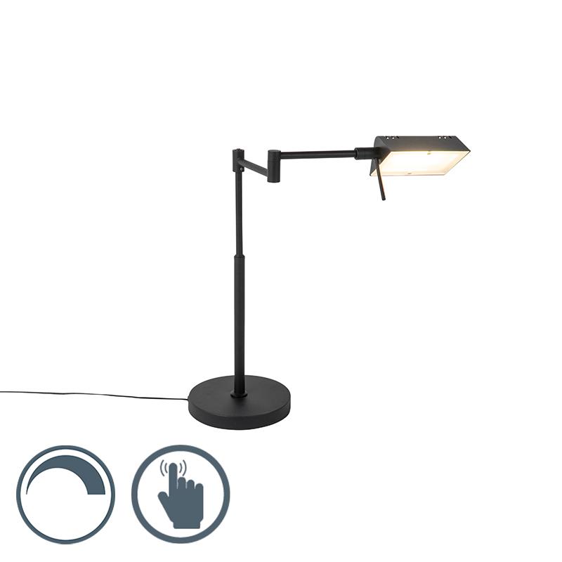 Design tafellamp zwart incl. LED met touch dimmer - Notia