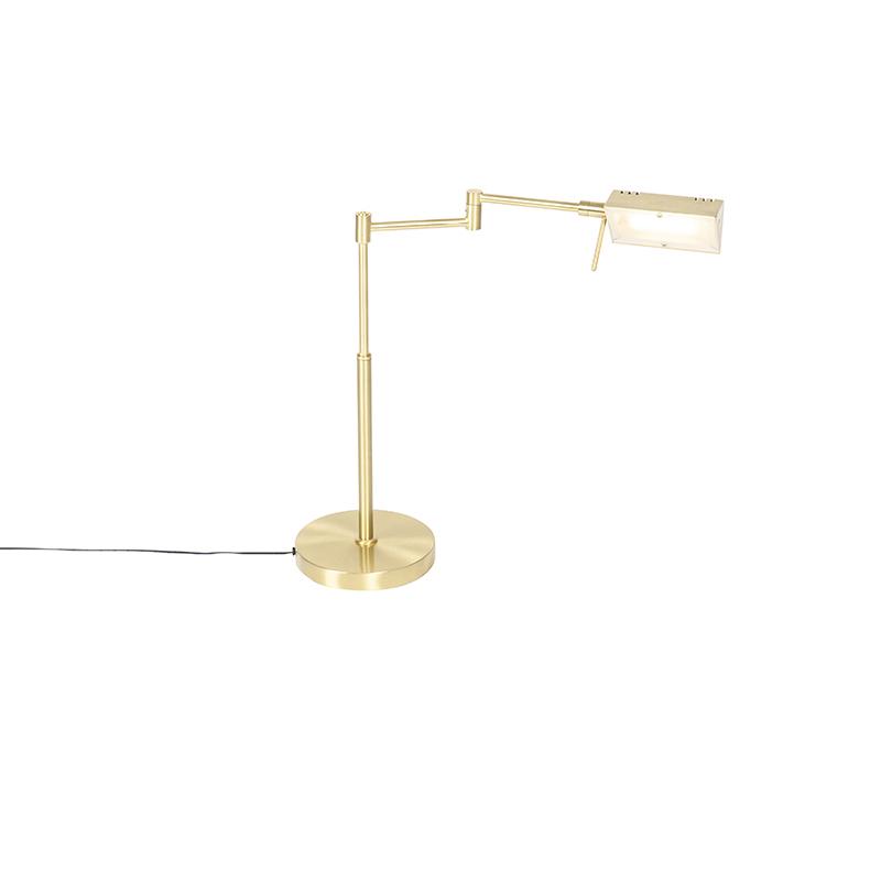 Design tafellamp goud incl. LED met touch dimmer - Notia