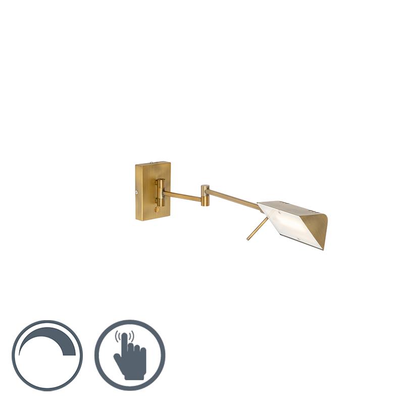 Design wandlamp goud incl. LED met touch dimmer - Notia