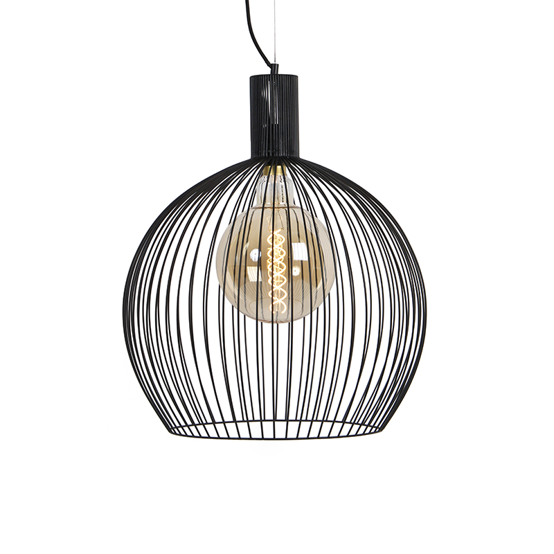 Design ronde hanglamp zwart 50 cm - Dos